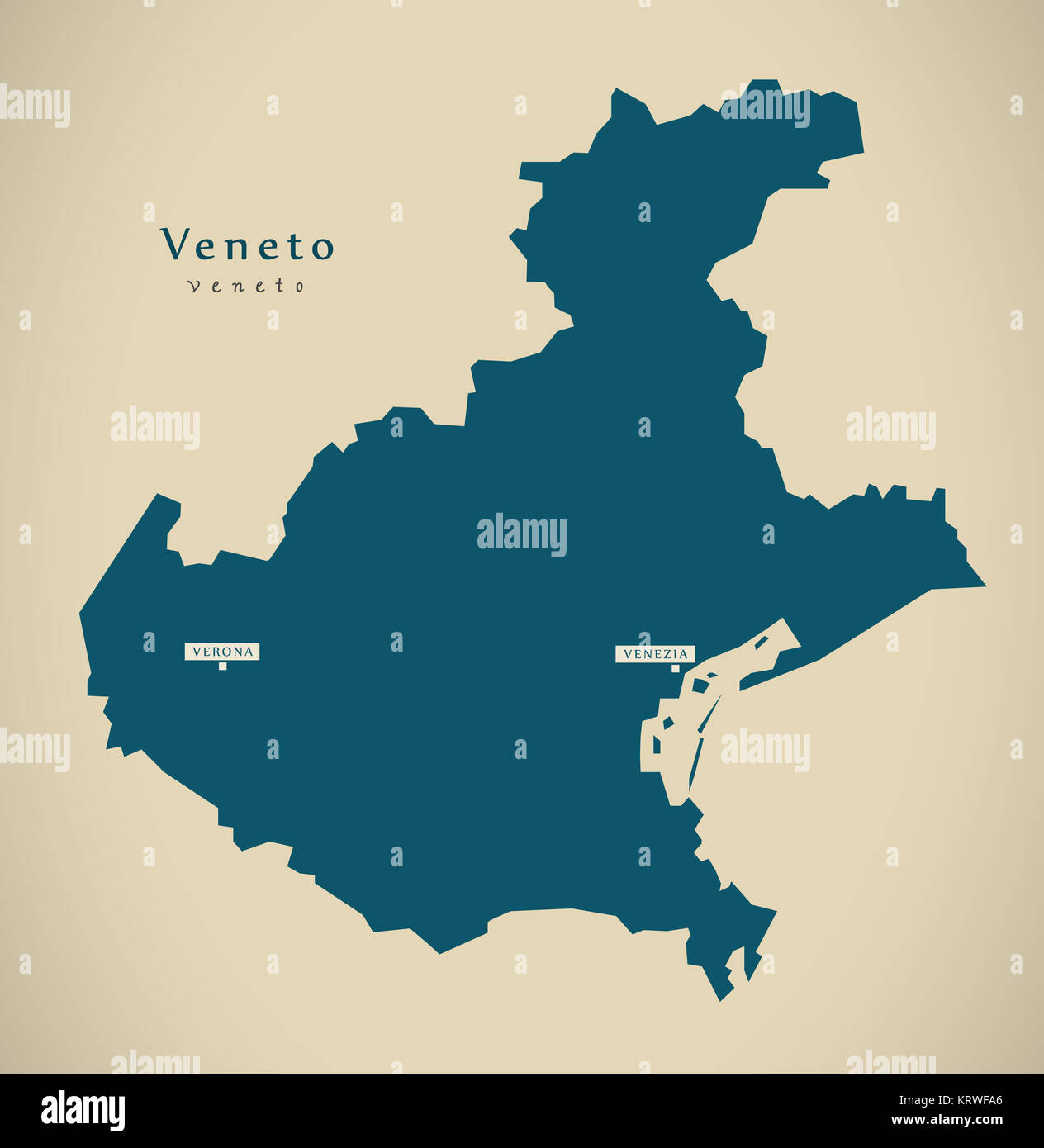 Modern Map Of Italy.Modern Map Veneto It Italy Stock Photo 169591246 Alamy