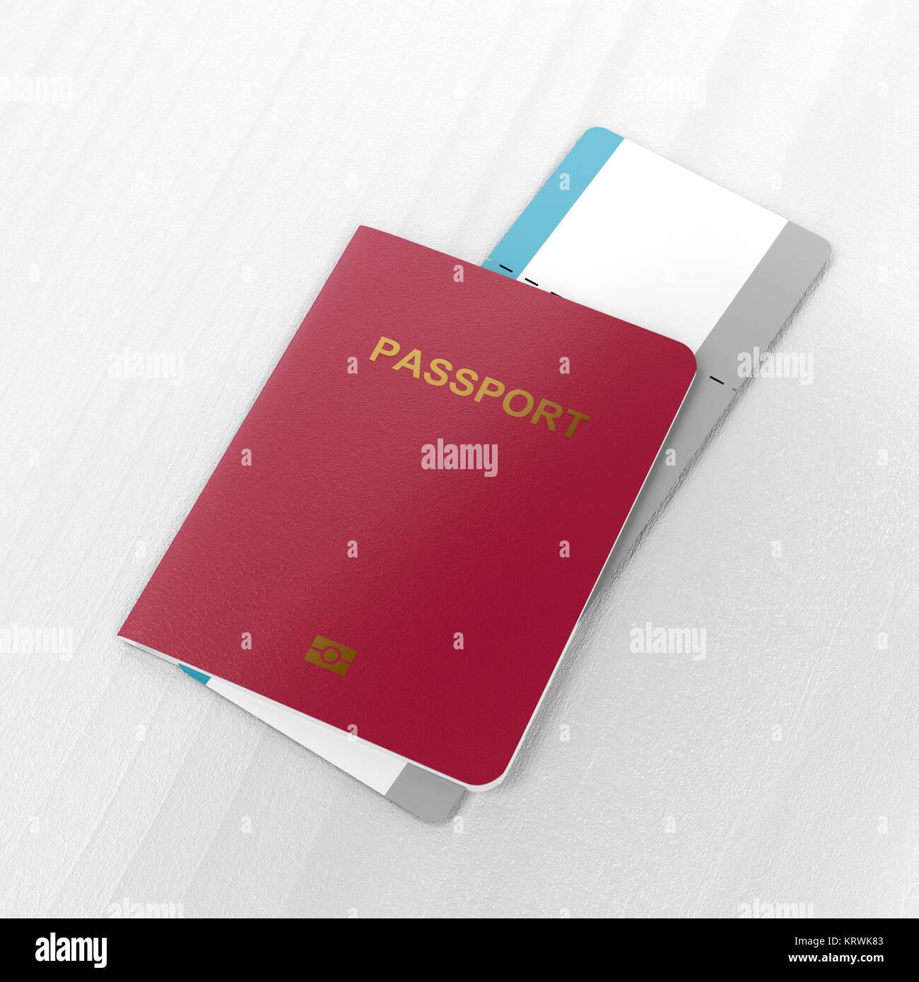 Passport And Blank Boarding Pass
