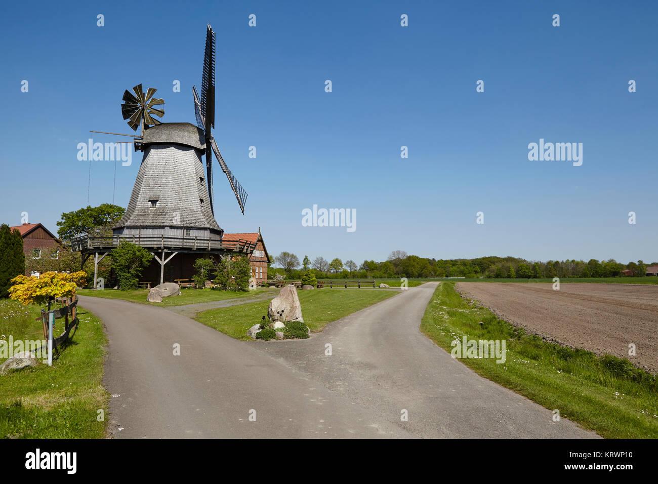 windmill messlingen (petershagen,germany) - Stock Image