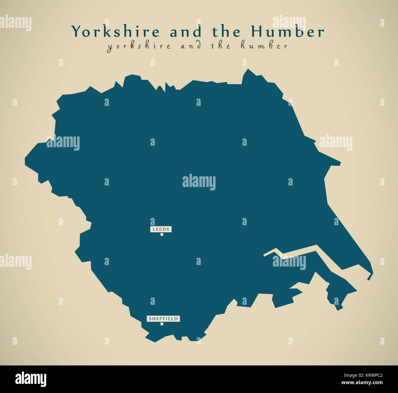 Map Of England Showing Yorkshire.Yorkshire Map Stock Photos Yorkshire Map Stock Images Alamy