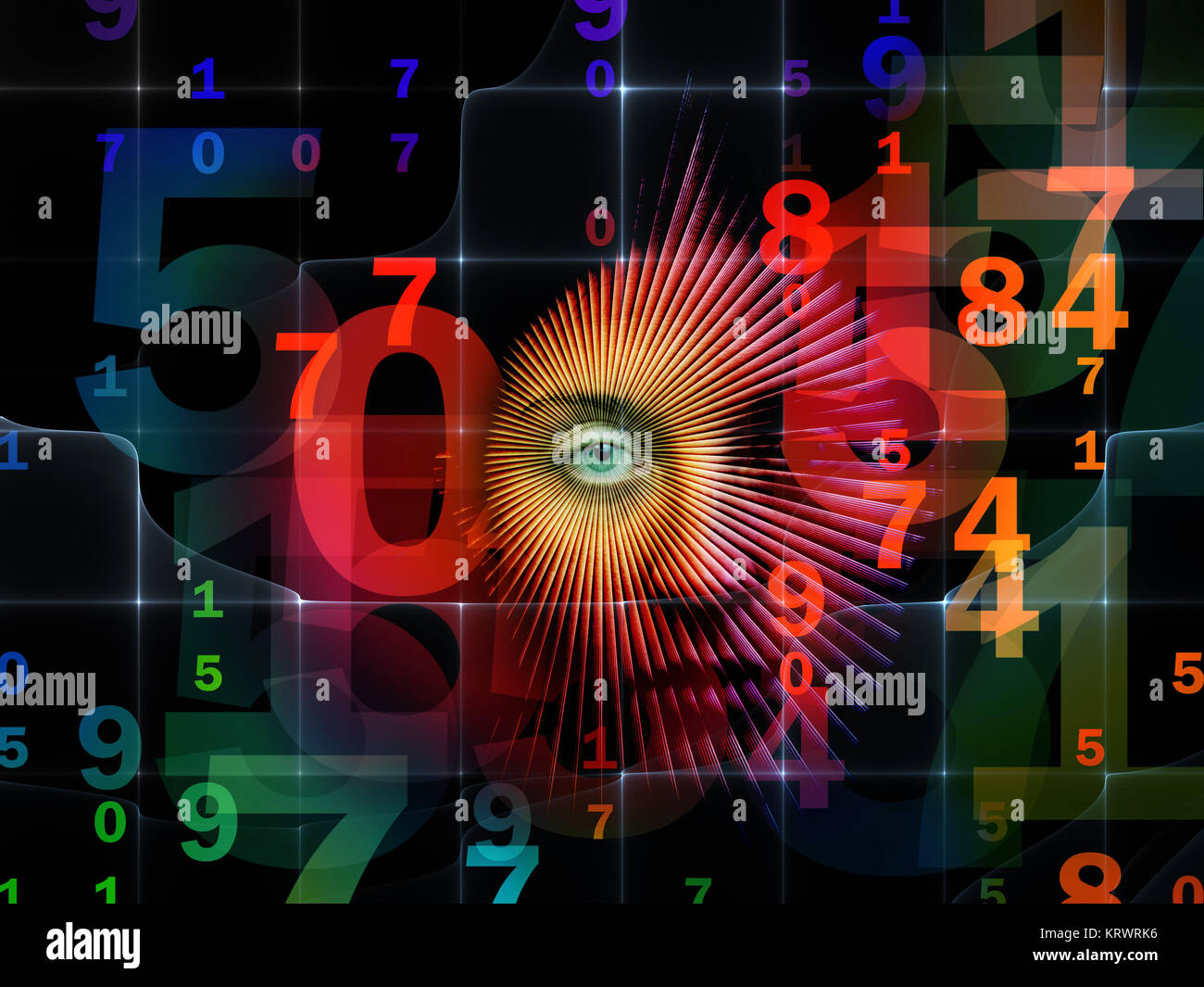 Conceptual World of Numbers - Stock Image