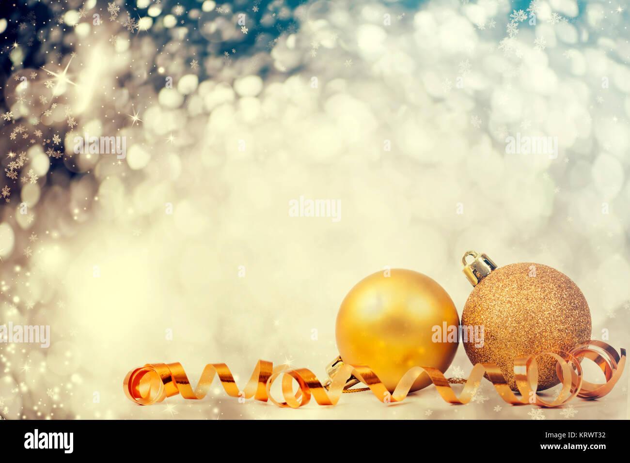Closeup on Chrismas balls - Stock Image