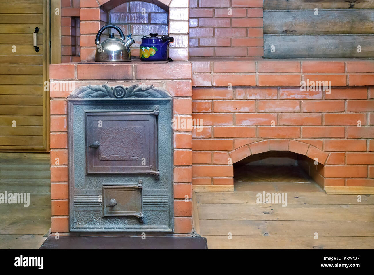 Furnaces made of bricks for a bath in Russian traditions