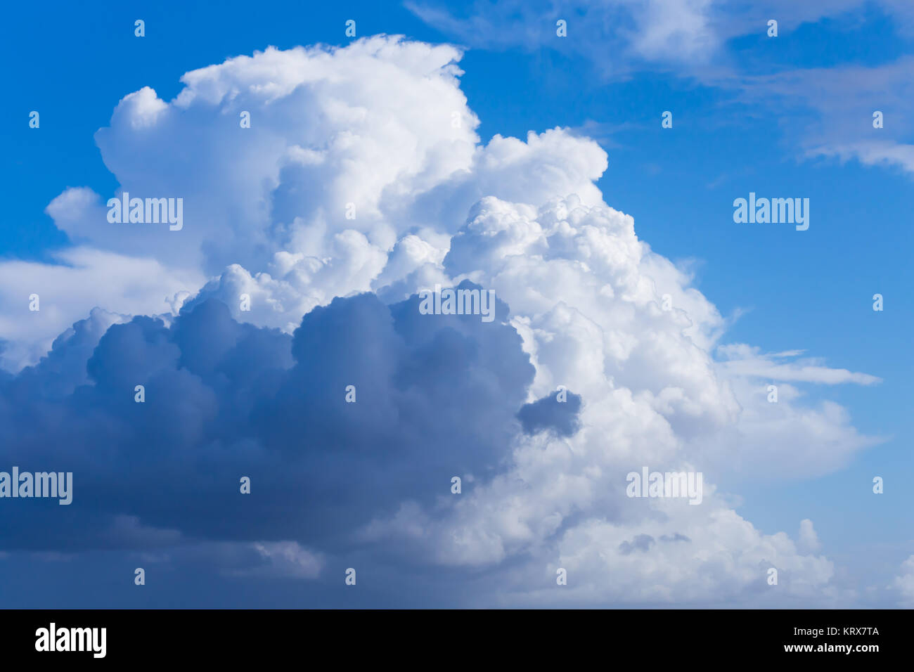 Clouds with blue sky - Stock Image