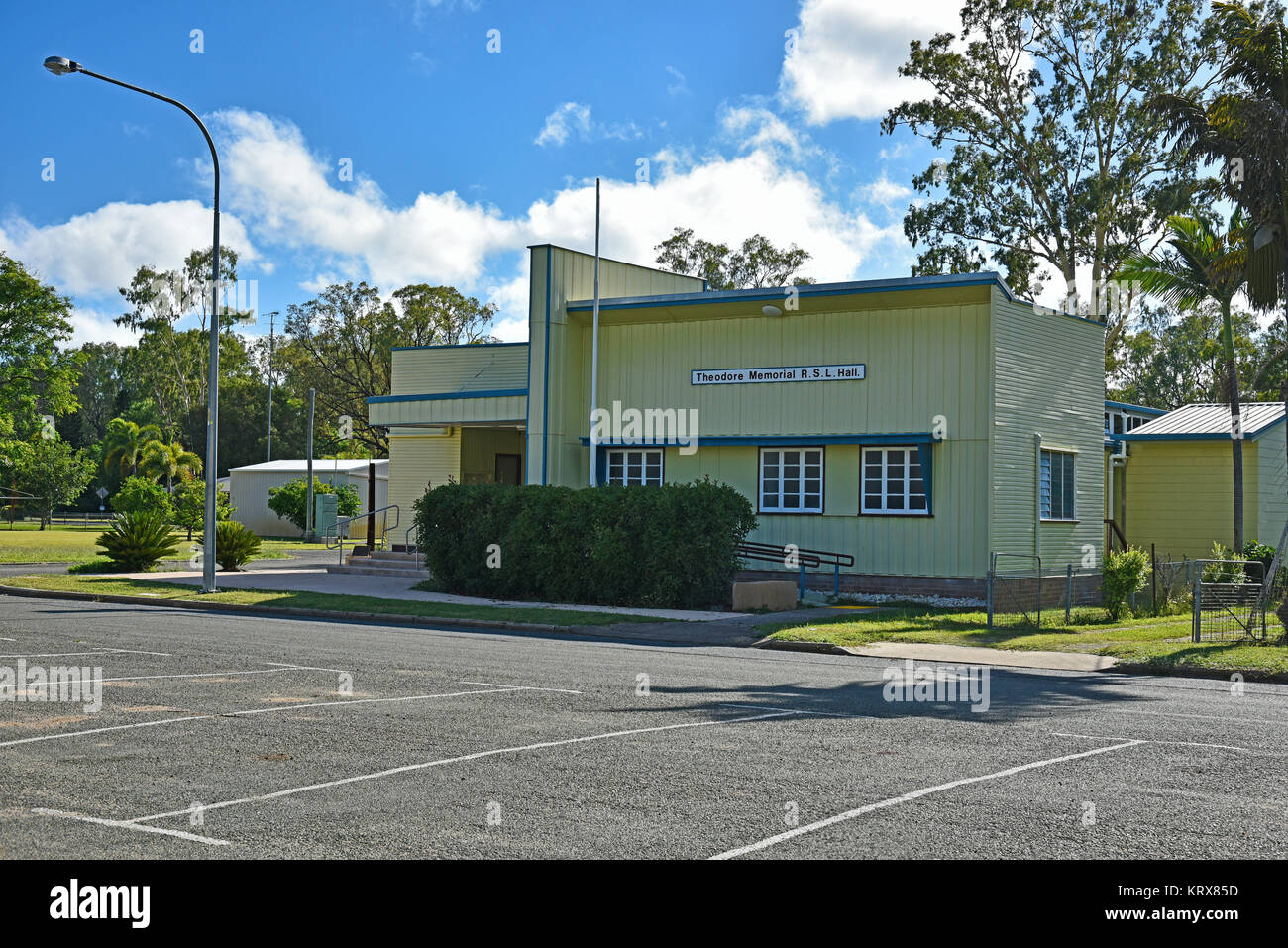 Theodore memorial rsl club and hall in theodore in north queensland in australia - Stock Image