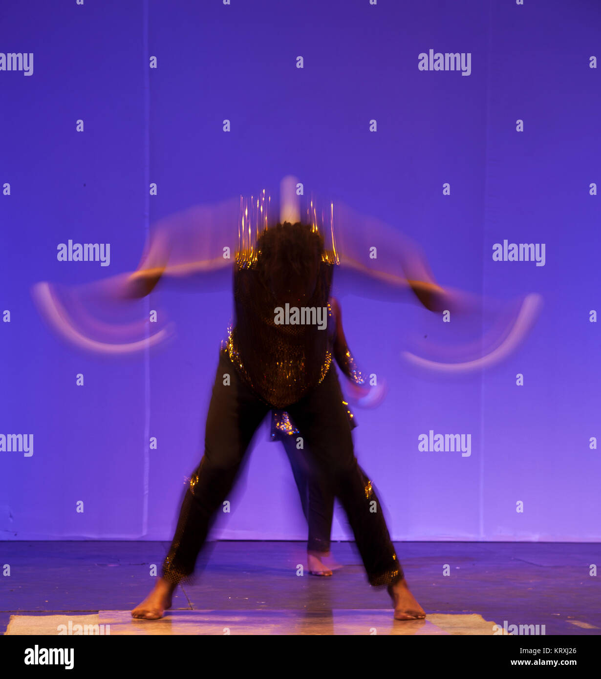 African Dancer performance show - Stock Image