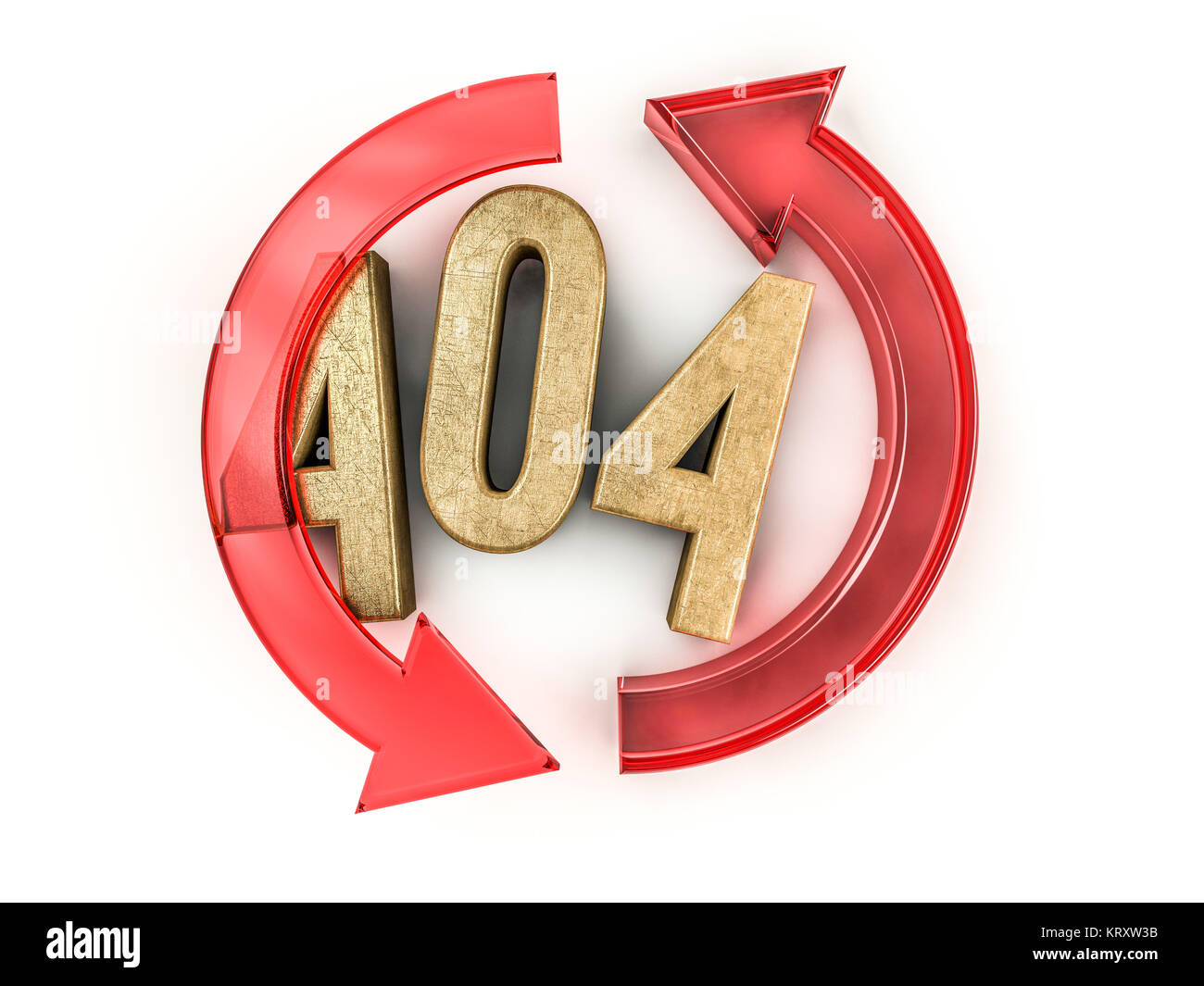 Error 404. Page not found 3D rendering - Stock Image