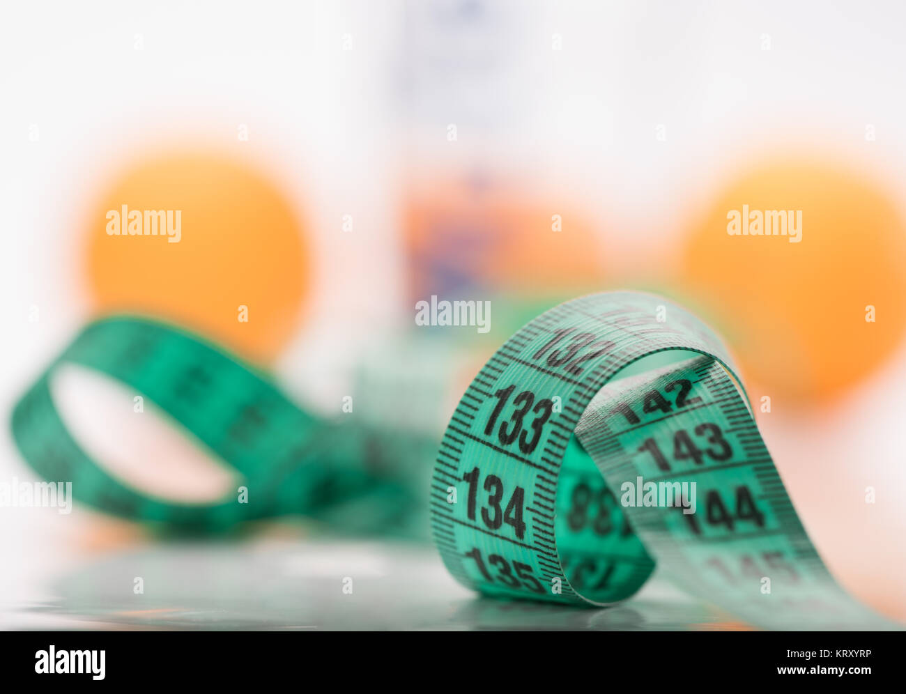 measure metrics and background unclear colors - Stock Image