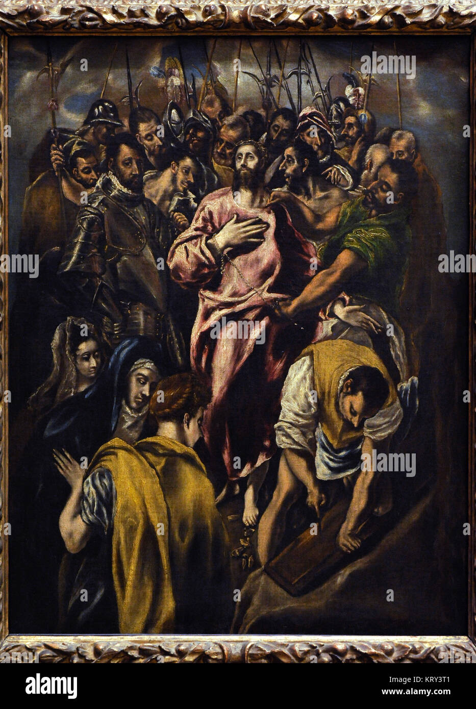 El Greco (1541-1614). Cretan painter. Jesus Christ Stripped of his Garments. National Gallery. Oslo. Norway. - Stock Image