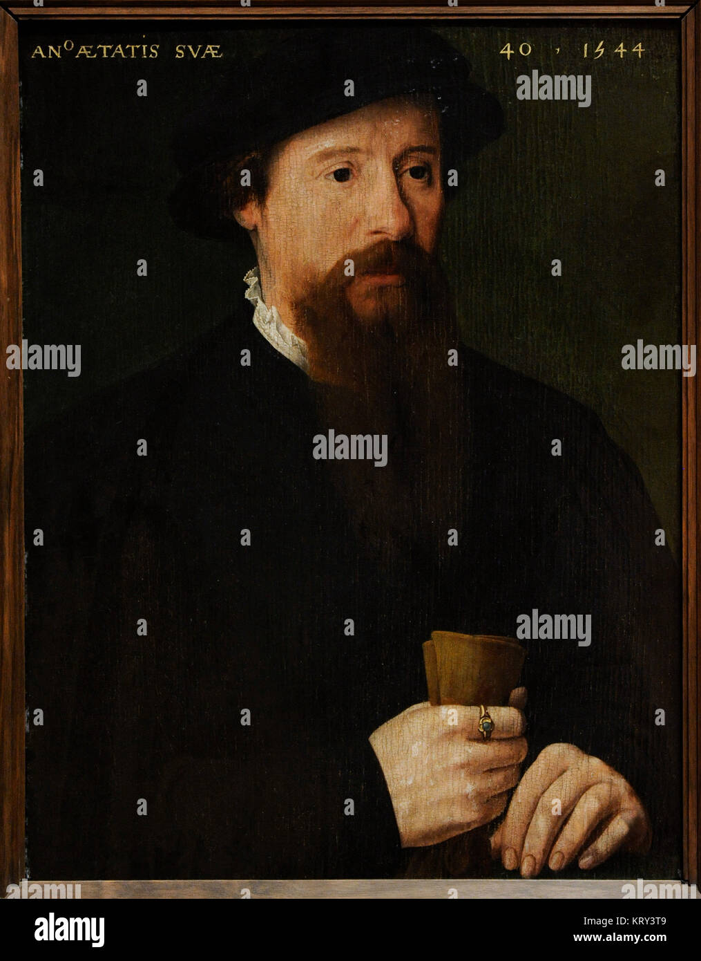 Pieter Pourbus (1523-1584). Dutch painter. Portrait of a Man, 1544. National Gallery. Oslo. Norway. - Stock Image