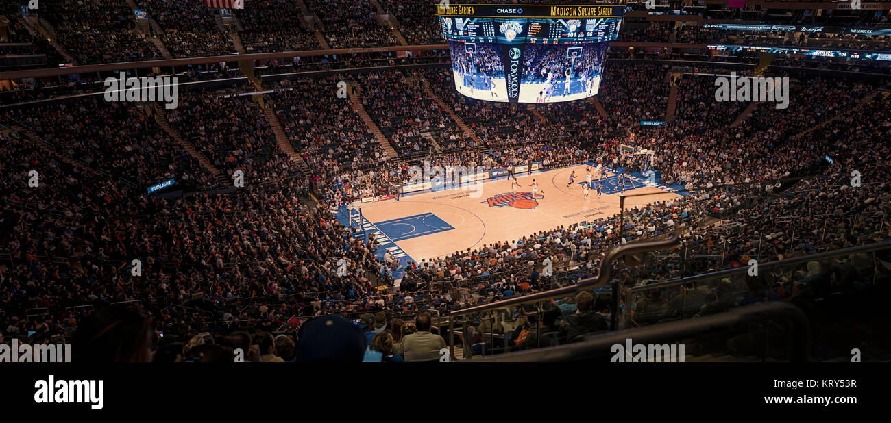 Basketball Game In Madison Square Garden Stock Photo 169627131
