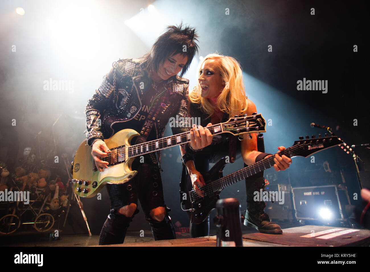 The American singer, songwriter and musician Alice Cooper performs a live concert at Sentrum Scene in Oslo. Here - Stock Image