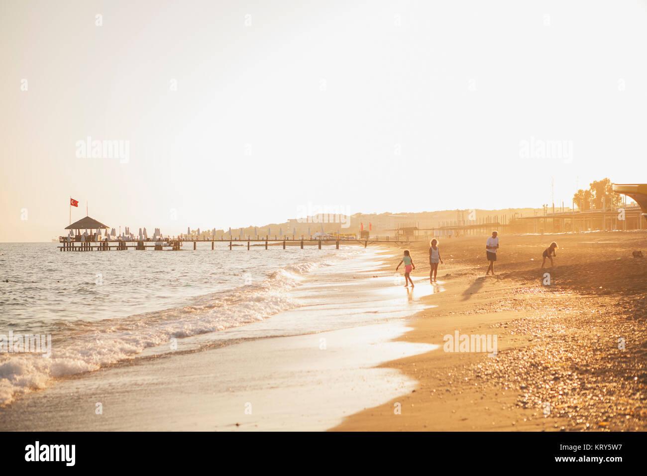 A beach in Turkey - Stock Image