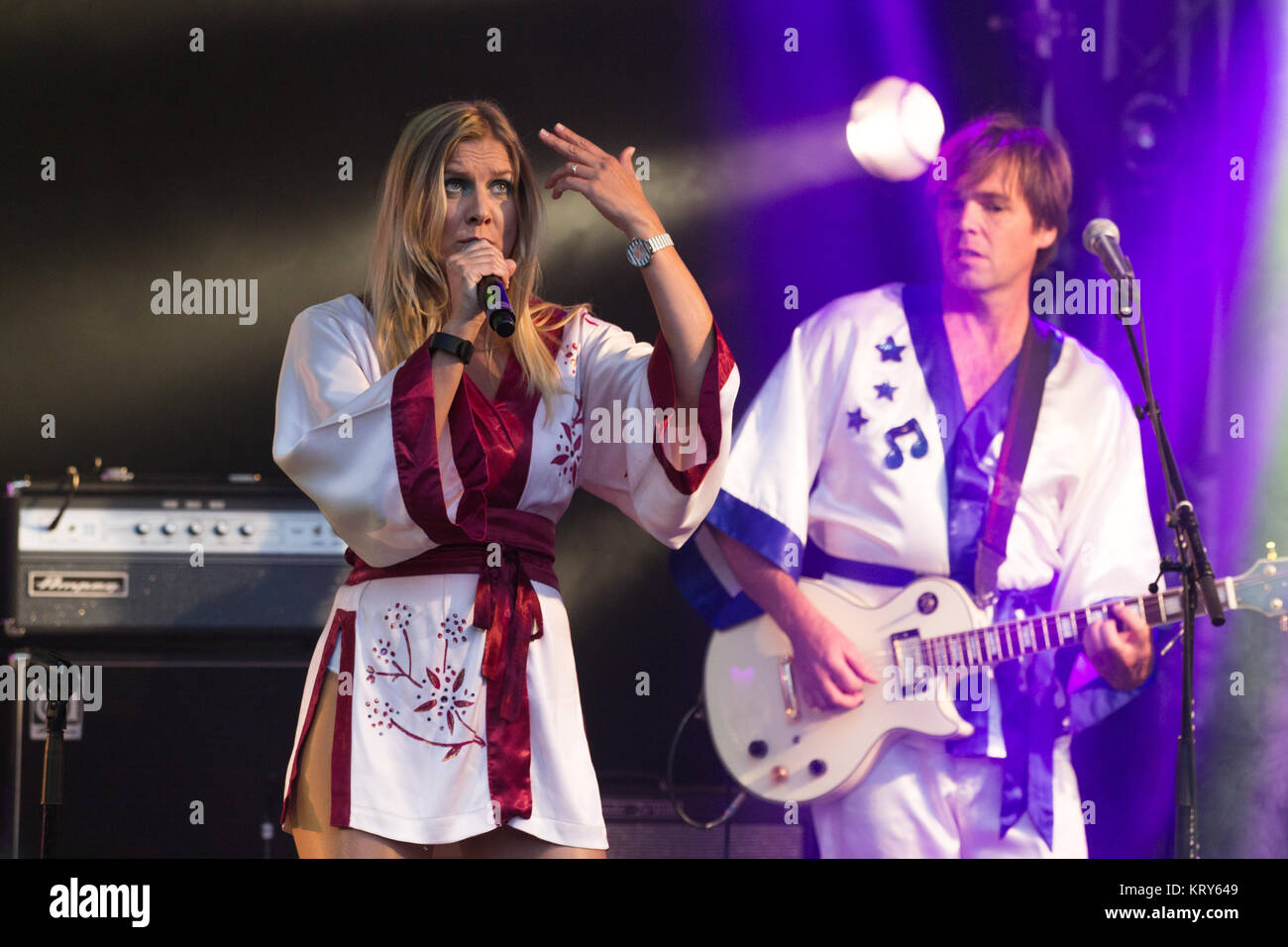 The Australian Abba Parady Group Björn Again Performs A Live Concert