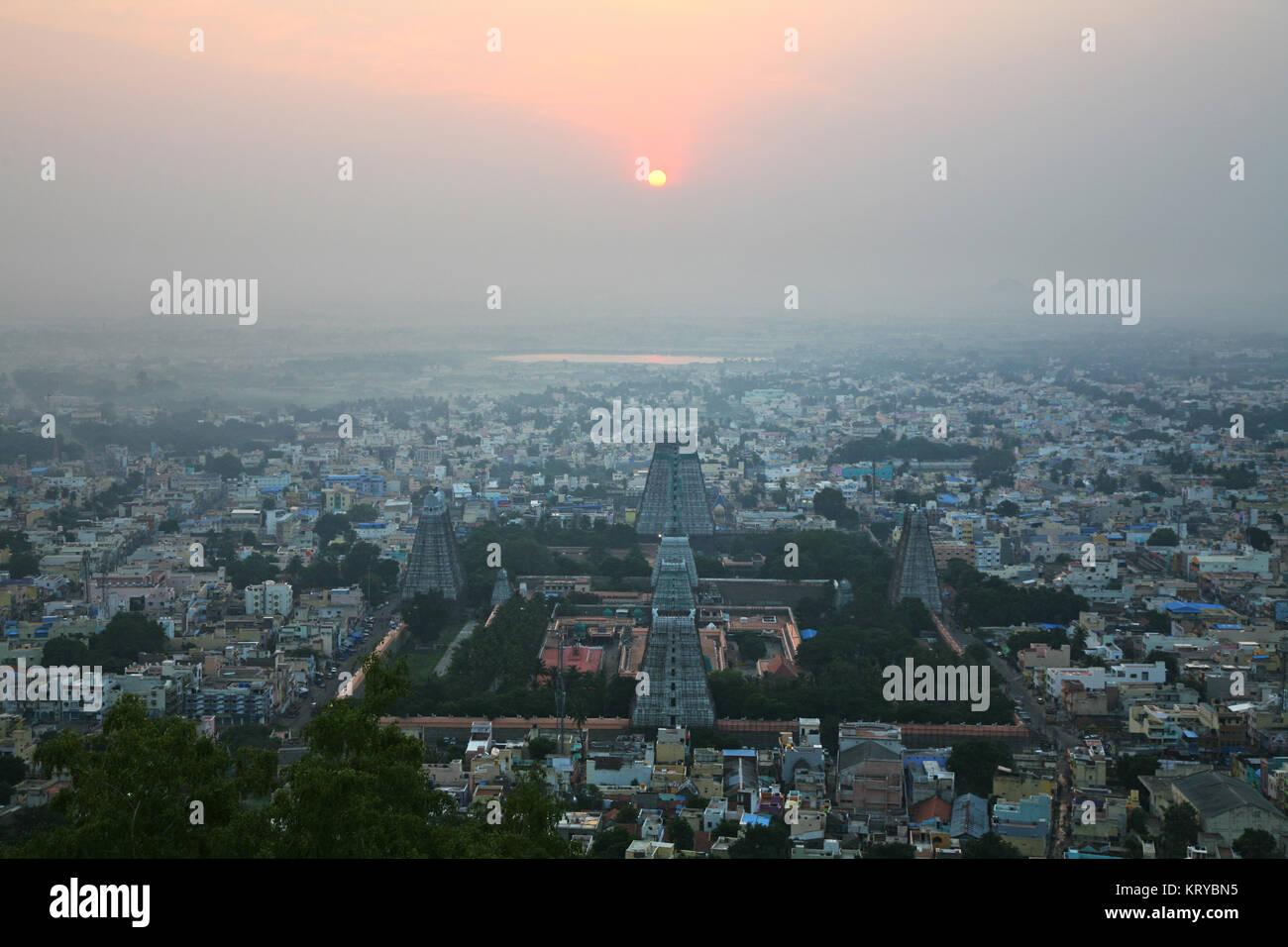 City View of Tiruvannamalai - Stock Image