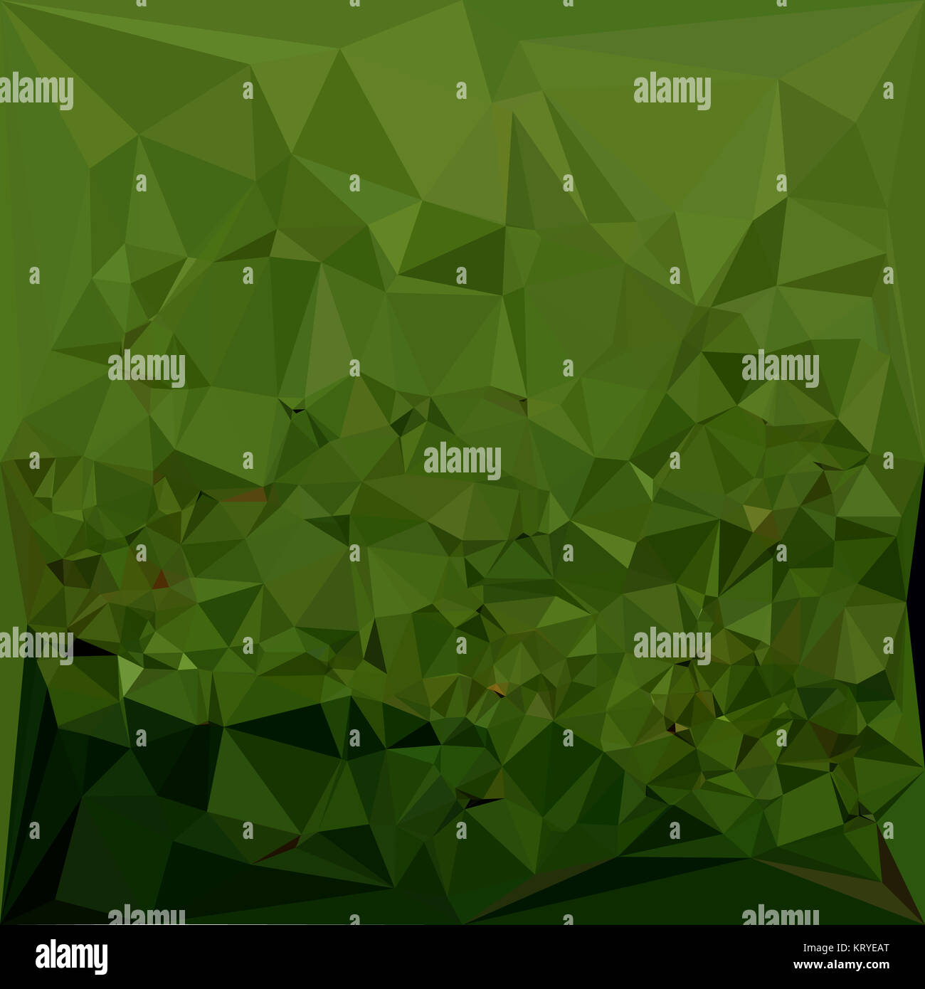 Chlorophyll Green Abstract Low Polygon Background - Stock Image