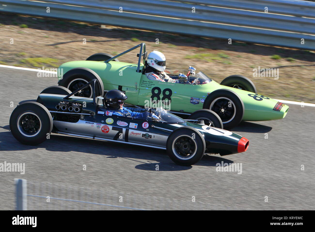 Classic Racing Cars competing over a weekend in Estoril, Portugal, in October 2017. - Stock Image