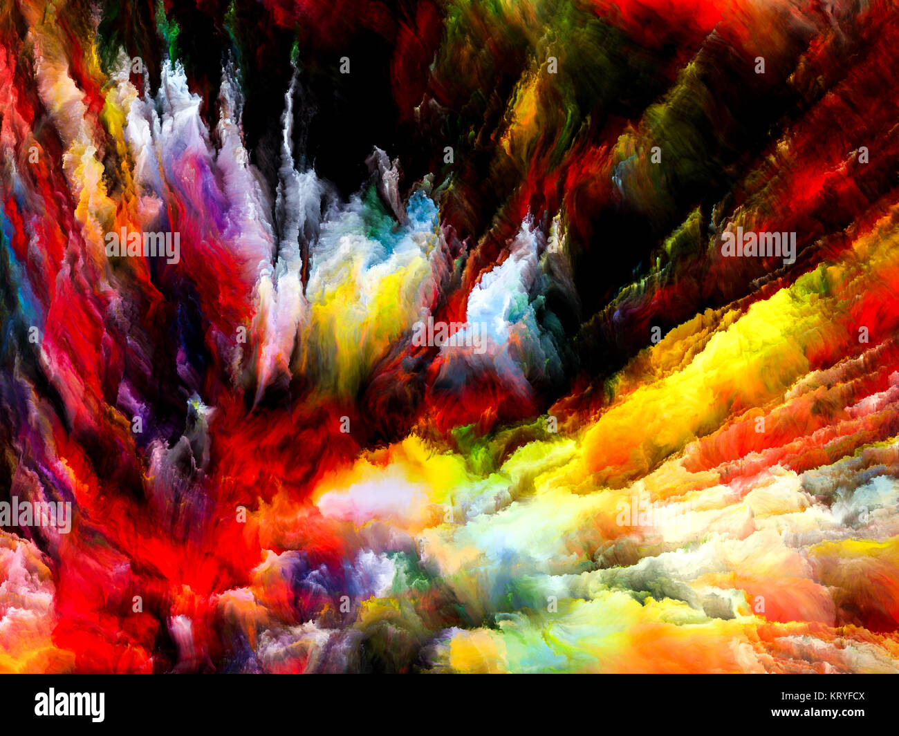 Color Explosion - Stock Image