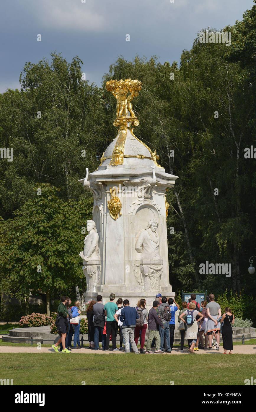 Beethoven-Haydn-Mozart-Denkmal, zoo, Berlin, Germany, Tiergarten, Deutschland - Stock Image