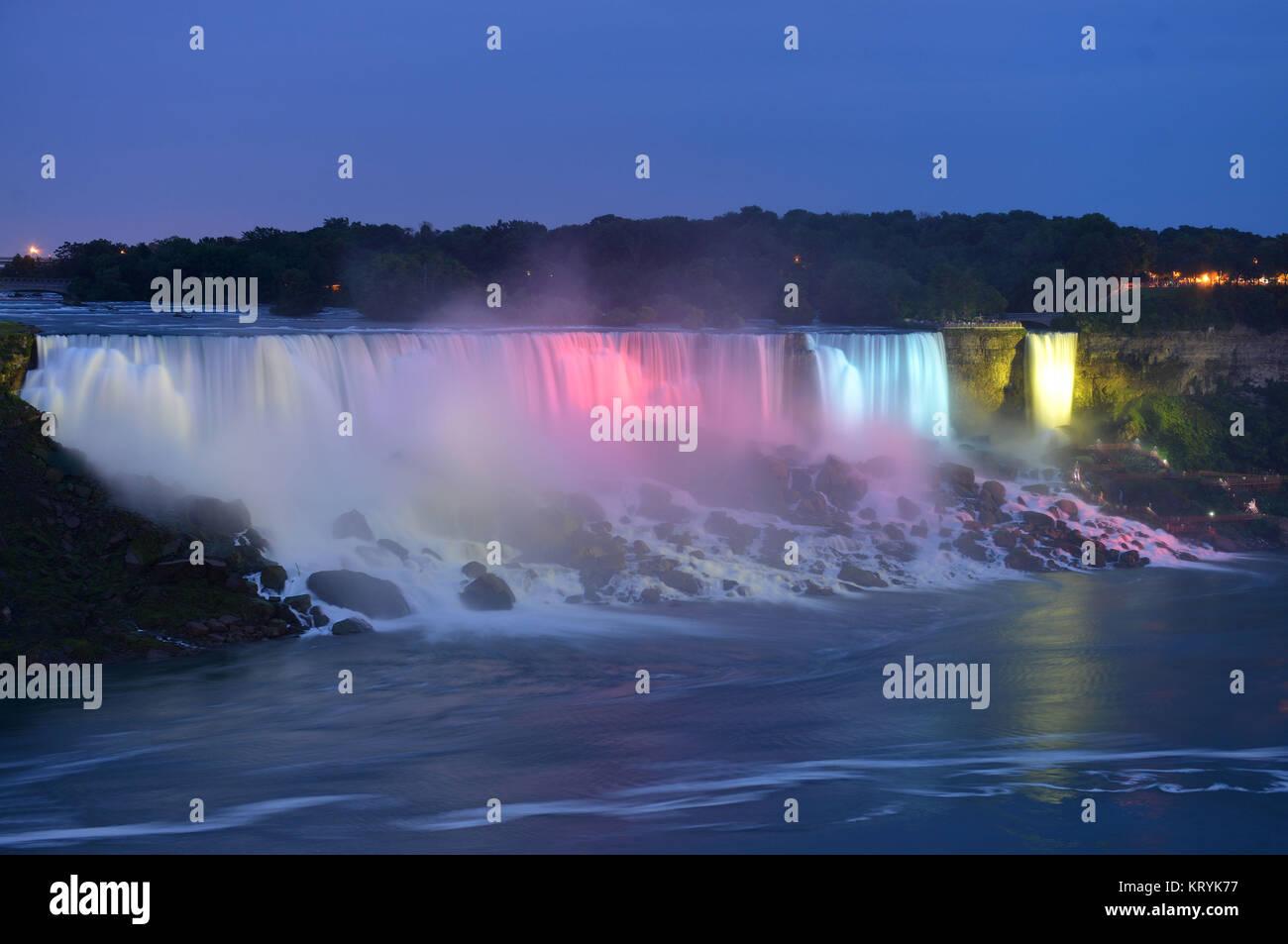 American of case, Niagarafaelle, New York, the USA / Niagaraf?lle, ´American Falls´, USA / Niagarafälle - Stock Image