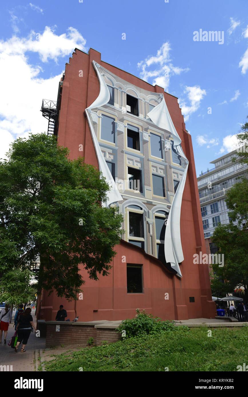 Gooderham Flat Iron building, Wellington Street, Toronto, Ontario, Canada, Gooderham ´Flat Iron building´, - Stock Image