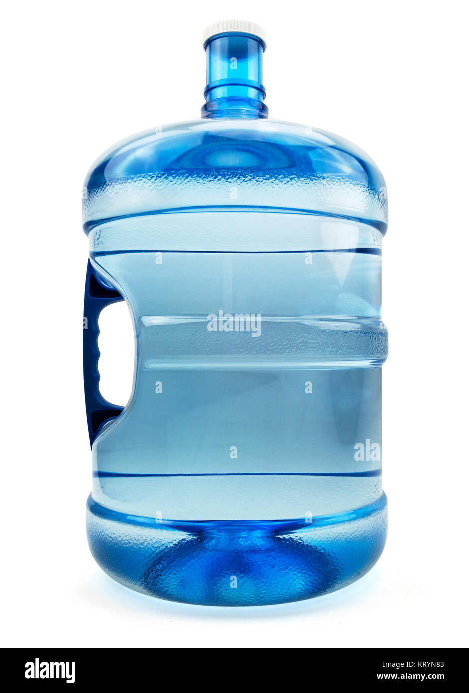Isolated Five Water Gallon Bottle - Stock Image