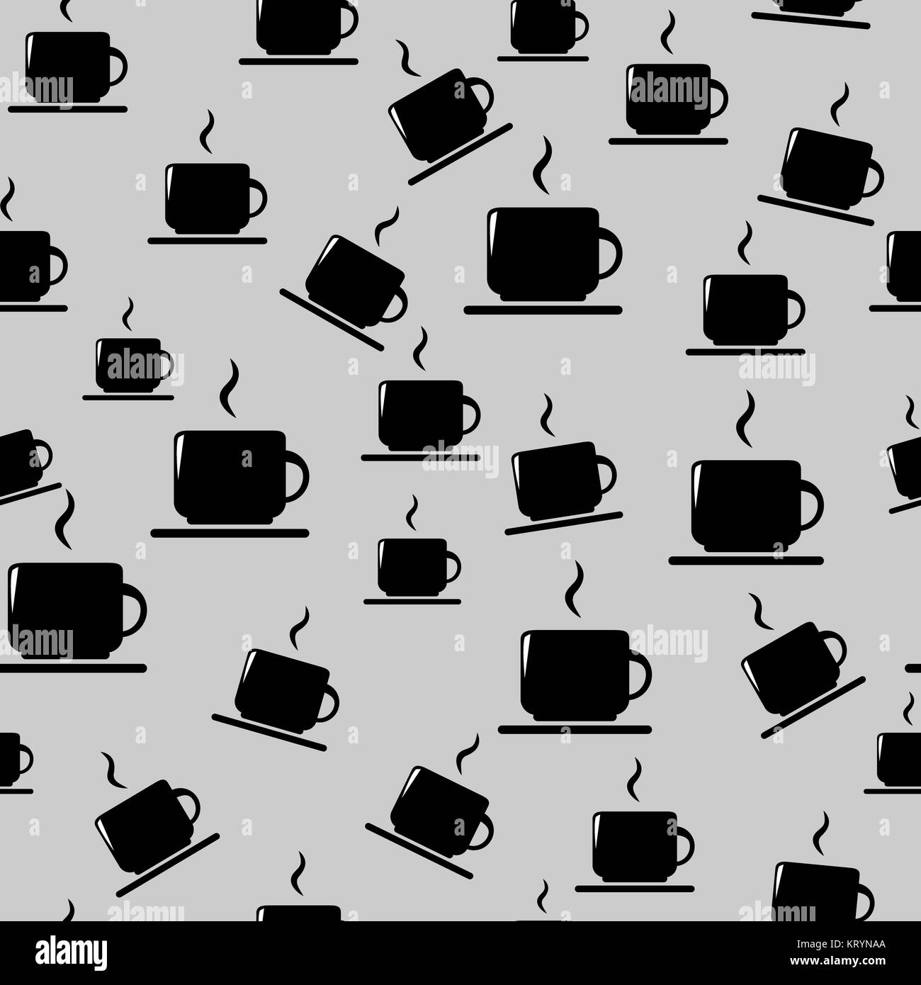 Tea or coffee cups on gray background - Stock Image