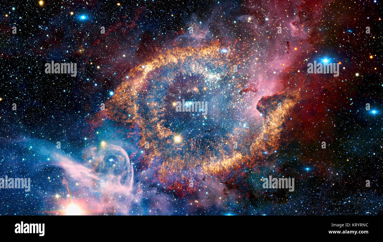 Helix Nebula in constellation Aquarius. Elements of this image furnished by NASA - Stock Image
