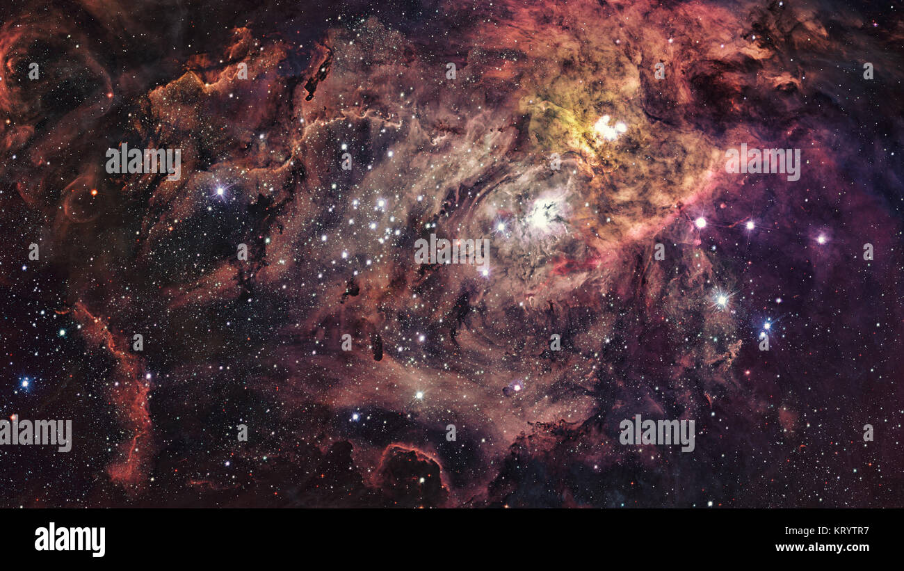 Shiny stars and galaxy space. Elements of this image furnished by NASA. - Stock Image