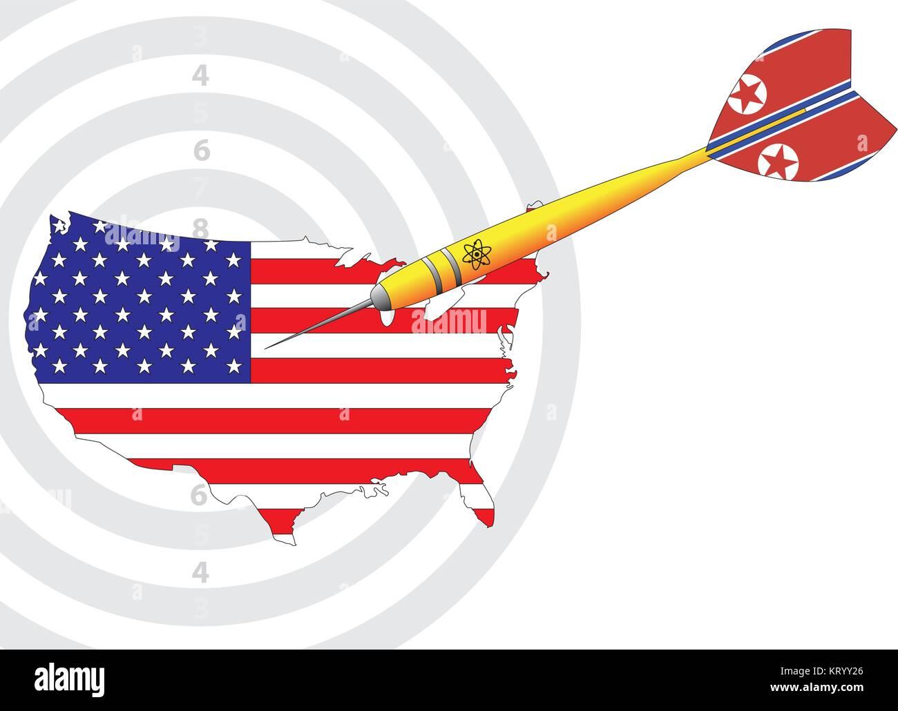 nuclear dart usa north korea vector symbol - Stock Vector