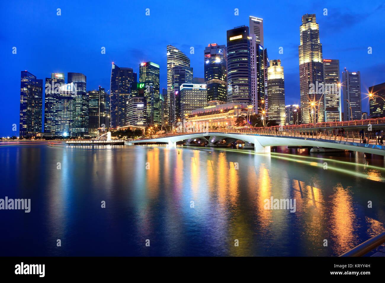 Singapore sky line - Stock Image
