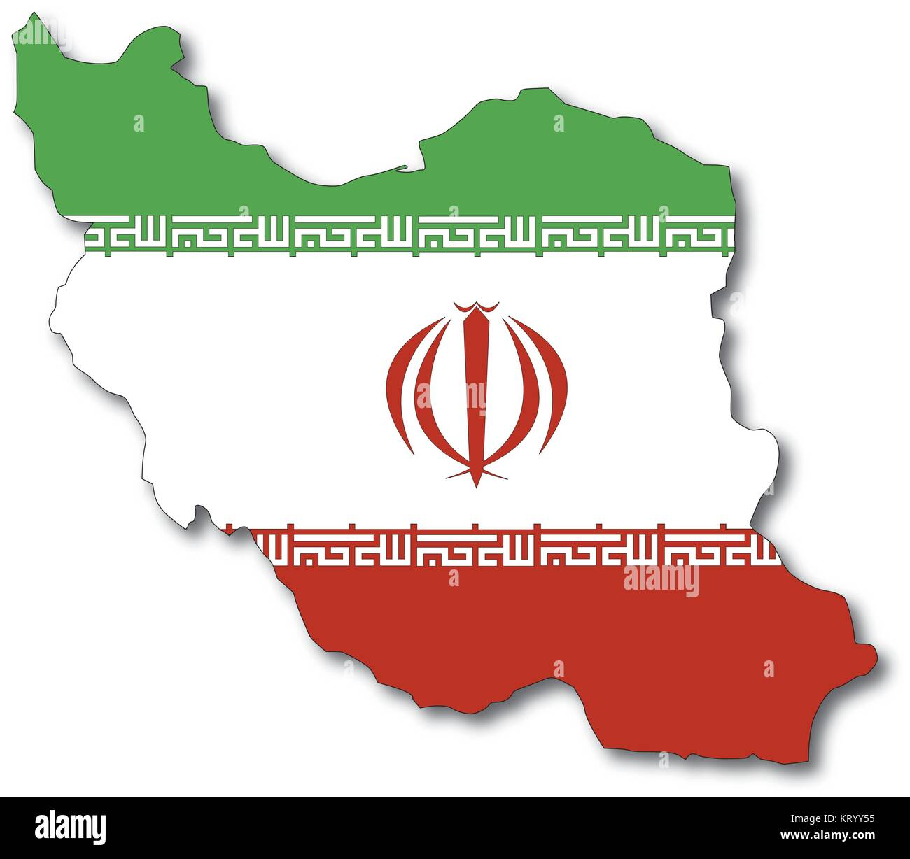 Iran stock vector images alamy vectorflag map of iran outline drawing stock vector buycottarizona Choice Image