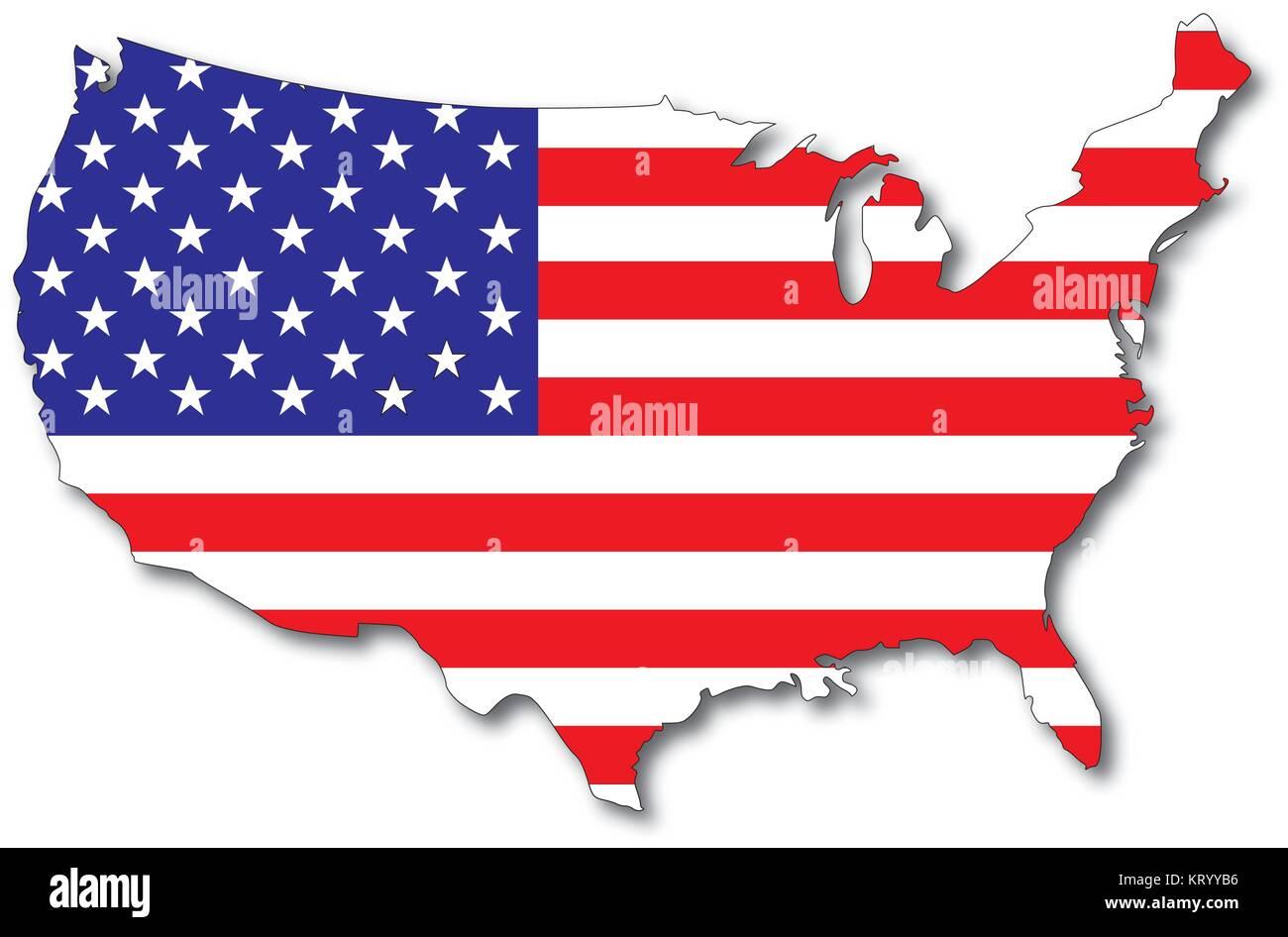 Usa Karte Umriss Usa Karte Nordamerika Und Sudamerika