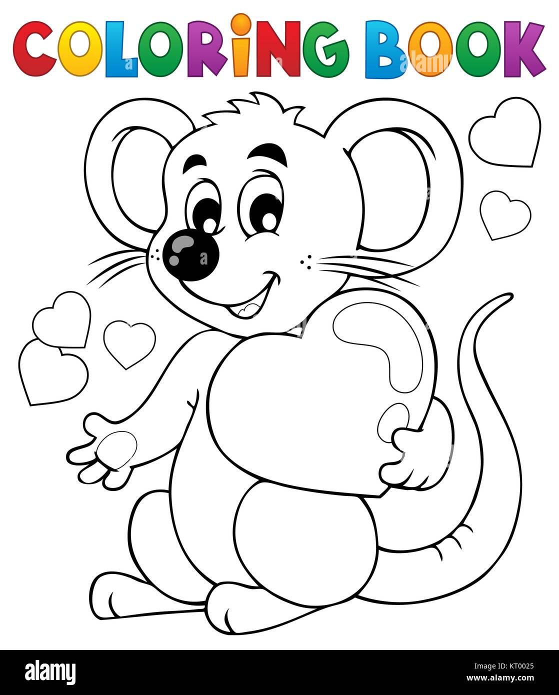 Coloring book Valentine topic 1 Stock Photo: 169645117 - Alamy