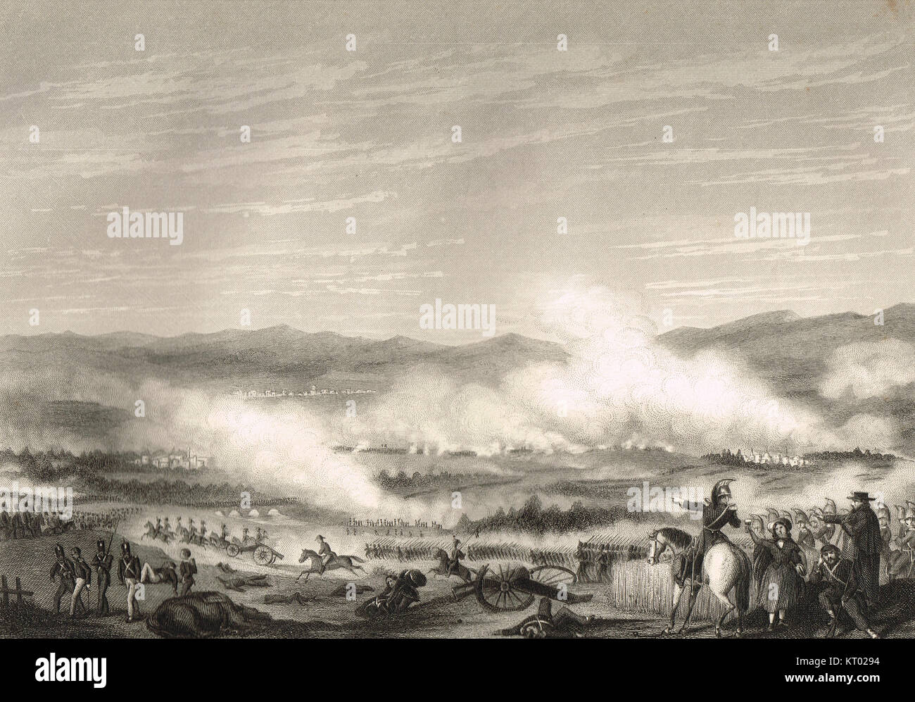 Battle of Vitoria, 21 June 1813 - Stock Image