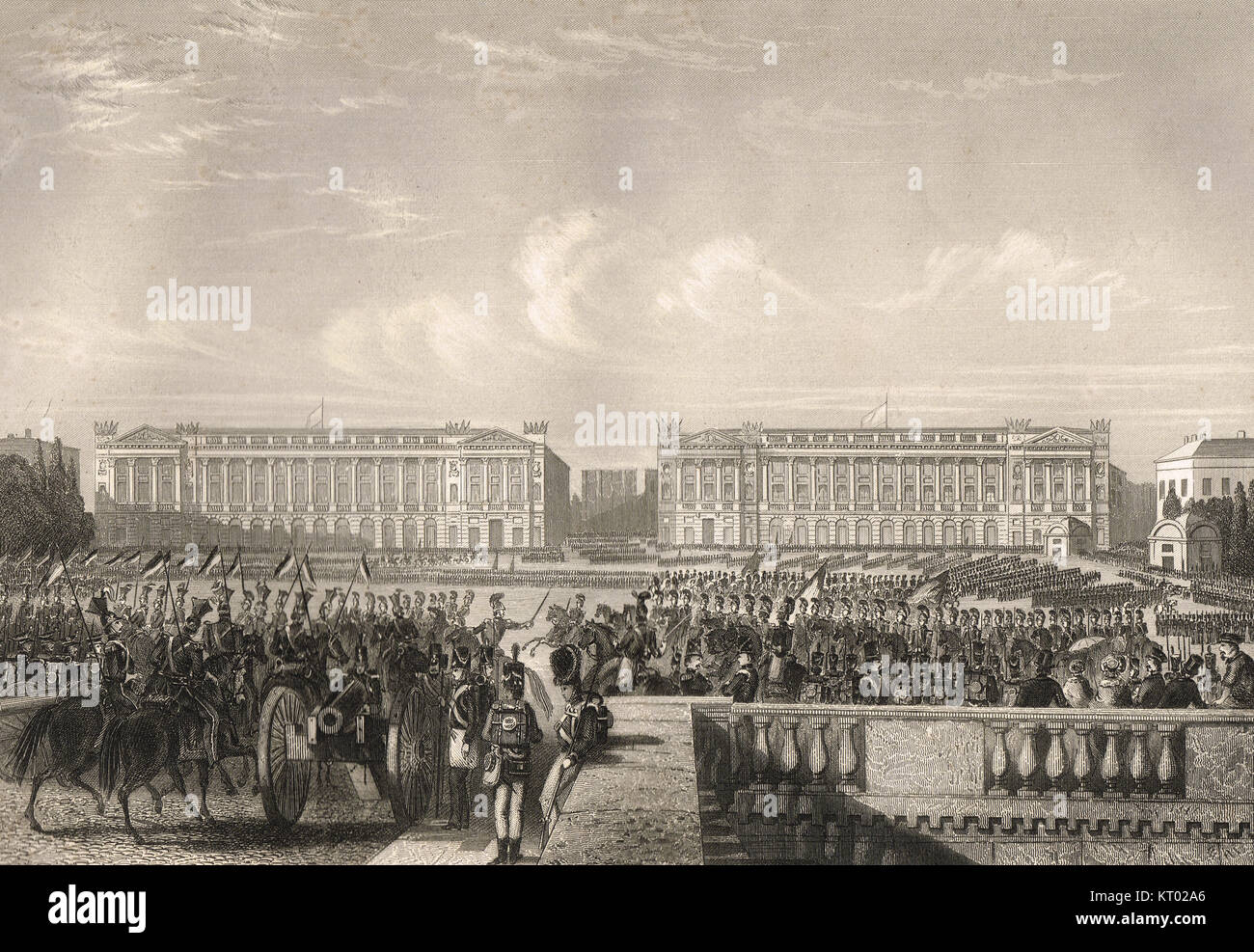 Entry of the Allies into Paris, 7 July 1815.  Waterloo Campaign, Waterloo to Paris 2–7 July - Stock Image