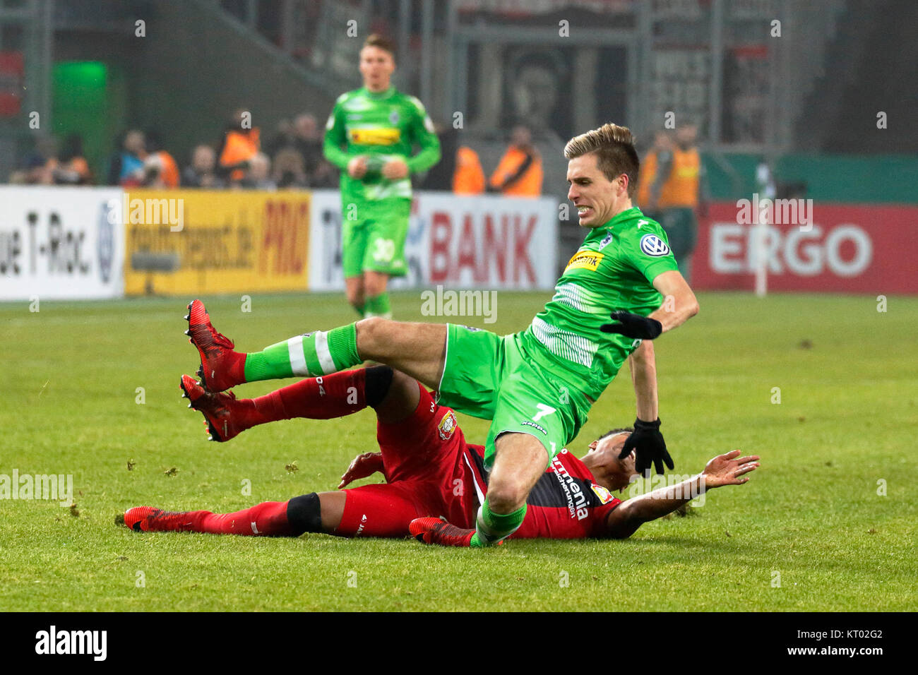 sports,football,DFB Cup,2017/2018,last sixteen,Borussia Moenchengladbach vs Bayer 04 Leverkusen 0:1,Stadium Borussia - Stock Image