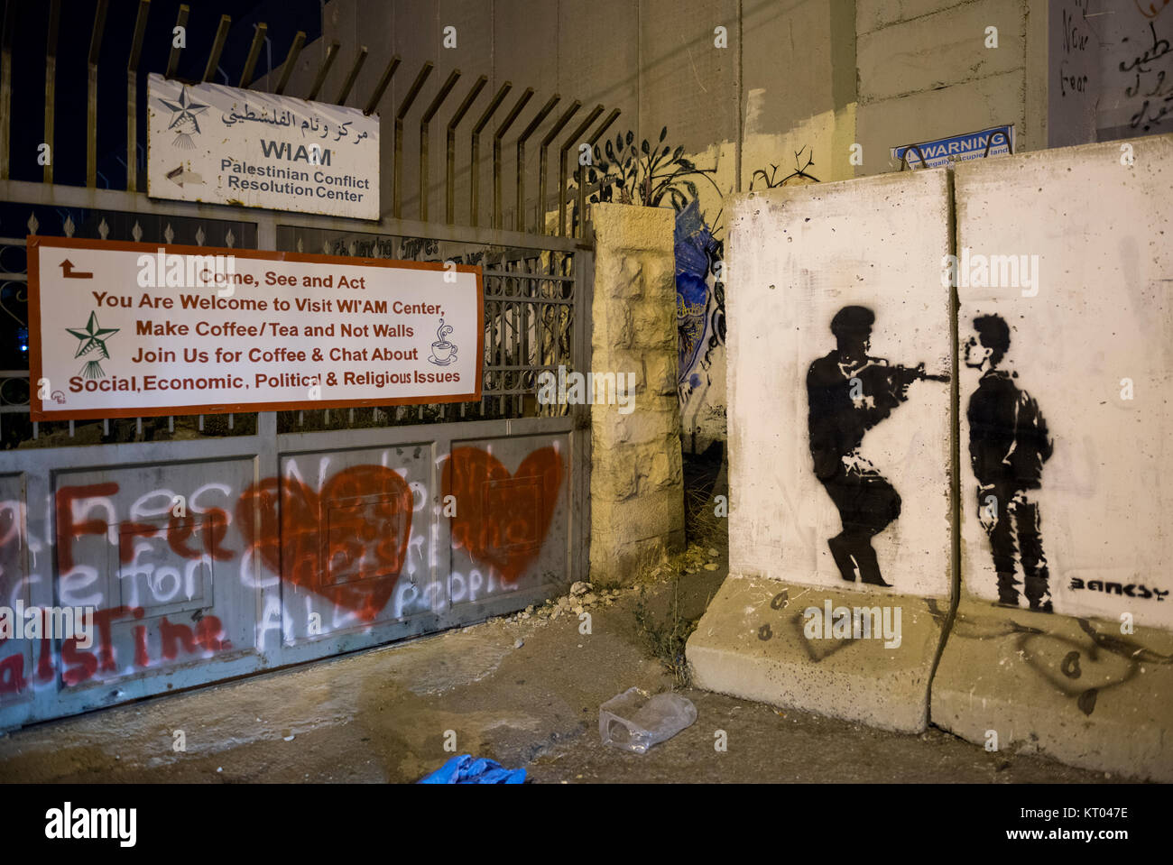 The Palestinian Conflict Resolution Centre, Bethlehem - Stock Image