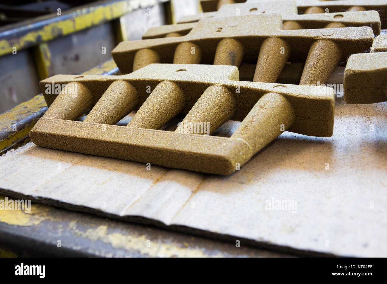 Cores made from Resin Coated Sand for Iron Casting product - Stock Image