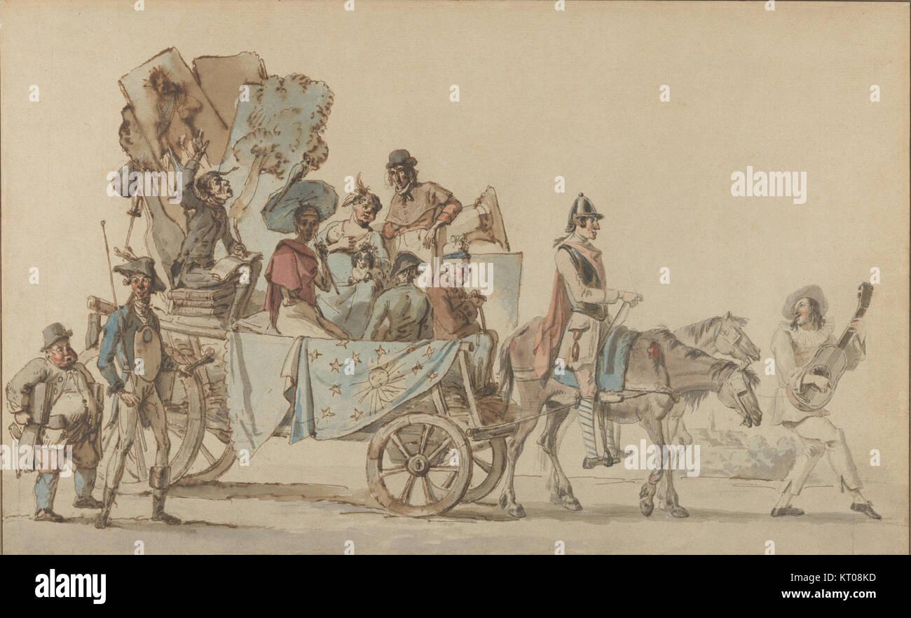 Artistes dramatiques en voyage MET DP852593 - Stock Image
