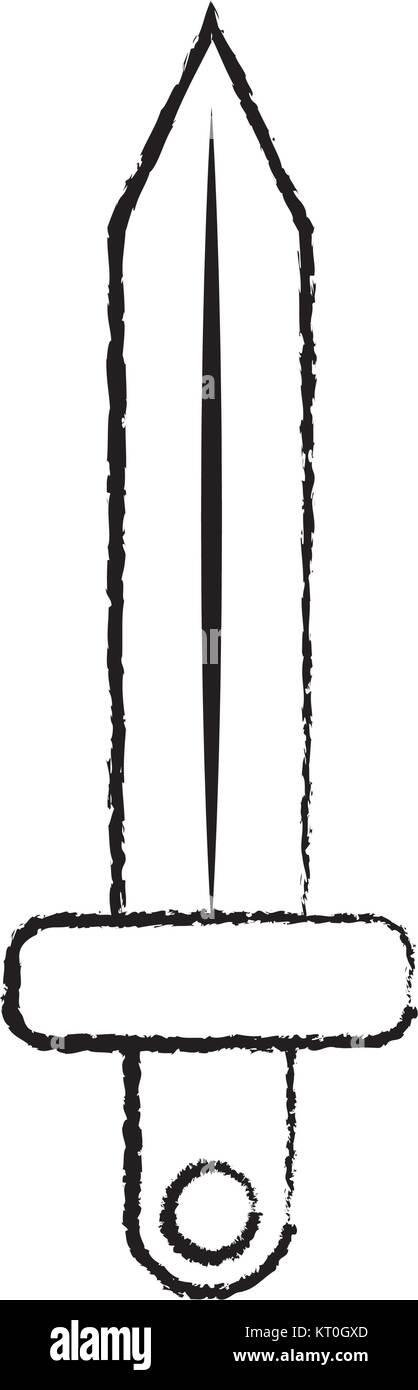 sword war icon image  - Stock Vector