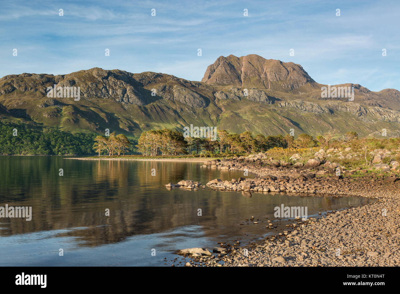 Slioch and Loch Maree in the Scottish Highlands, Scotland, UK - Stock Image
