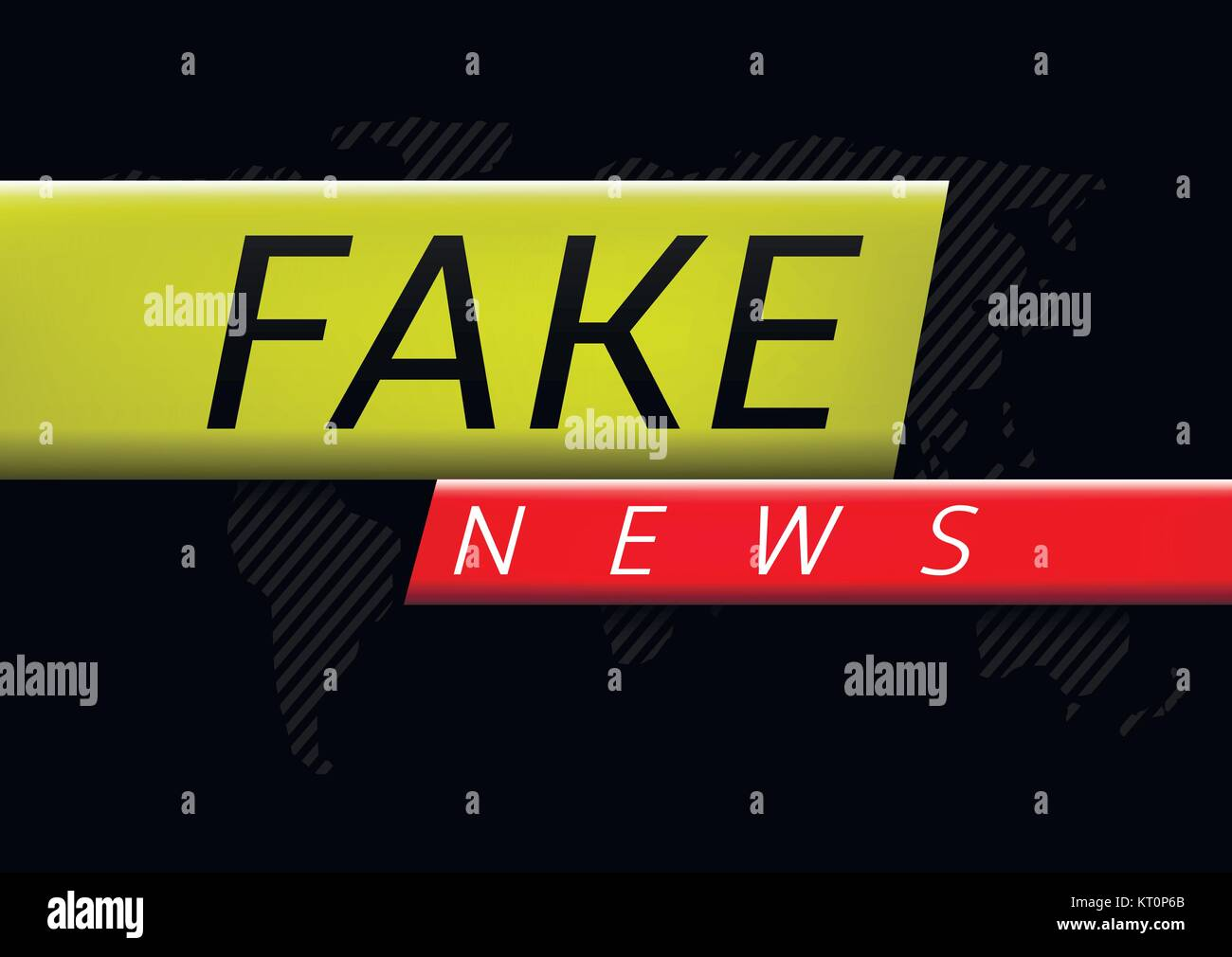 Fake news illustration - Stock Image