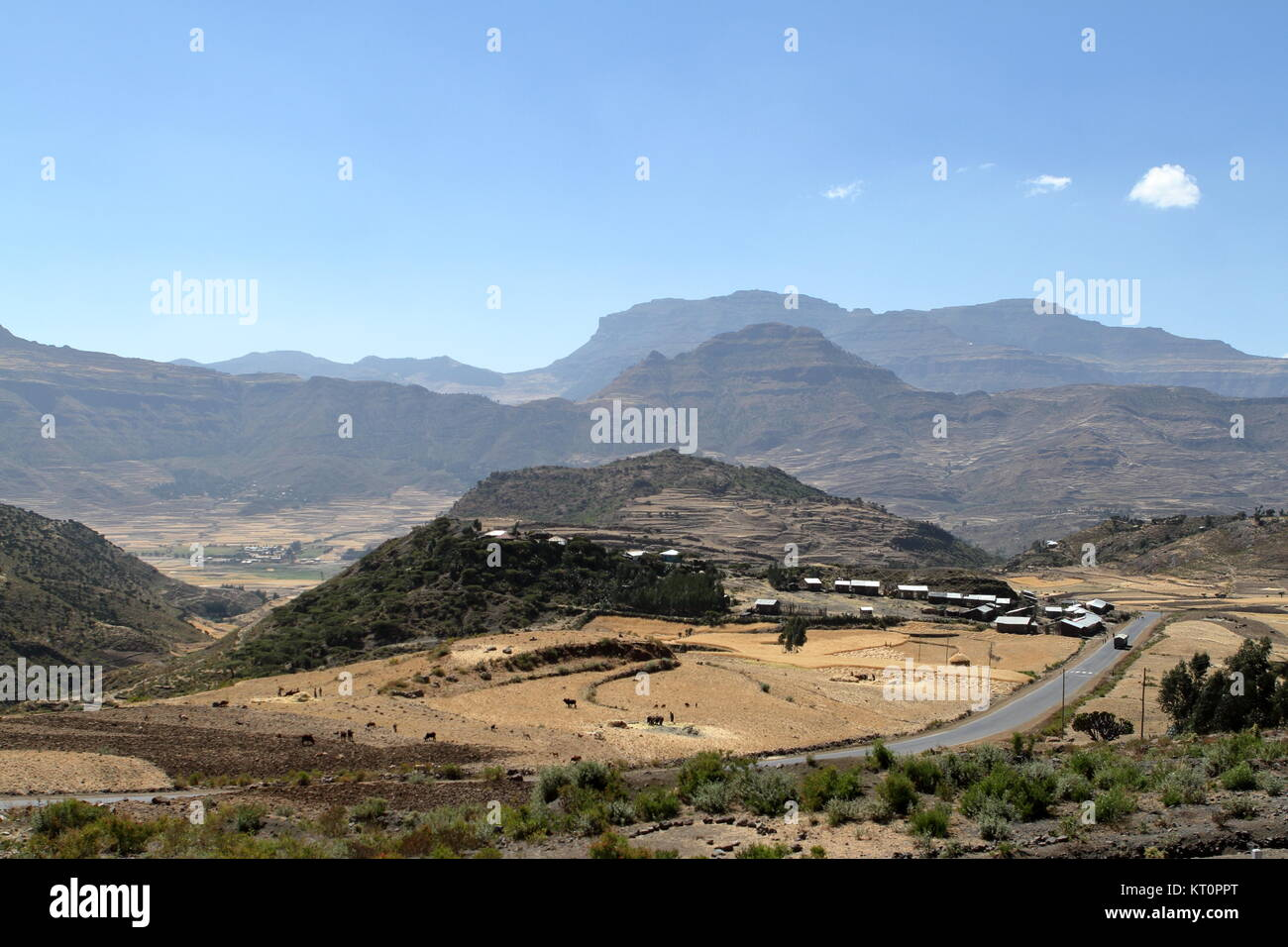 the landscape at mekele in ethiopia - Stock Image