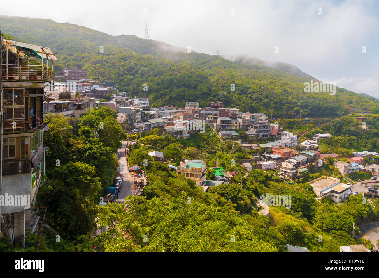 View of Jiufen or Jioufen, a small town  in the Ruifang District, New Taipei, Taiwan. It served as inspiration for Stock Photo
