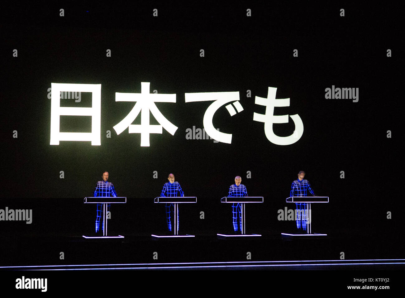 The legendary German electronic music band Kraftwerk