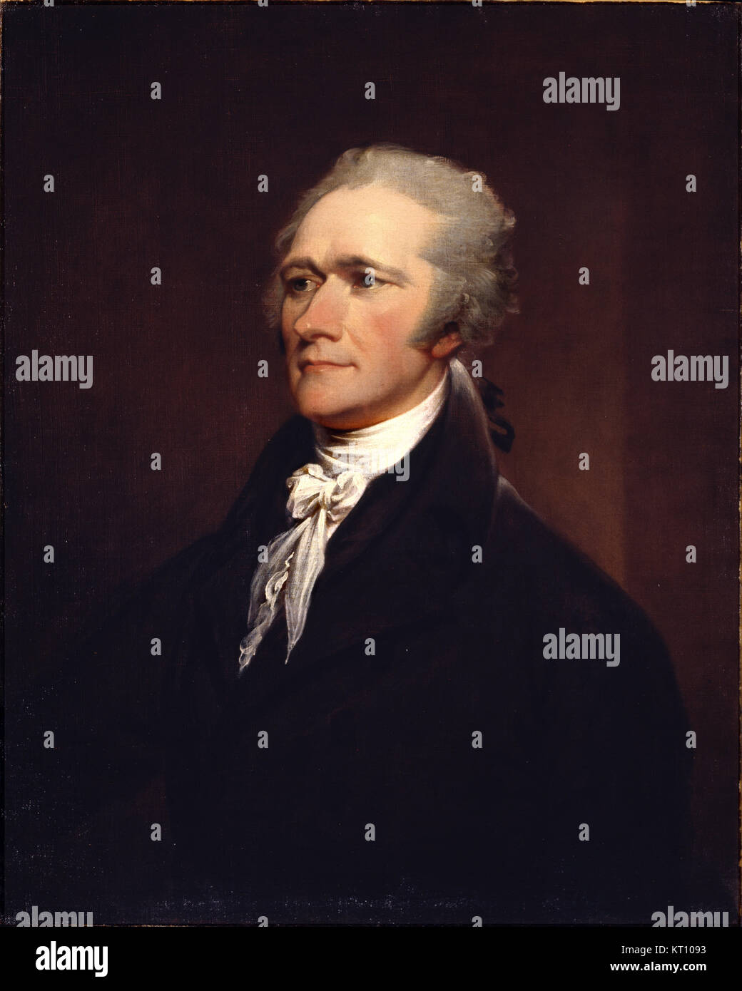 ALEXANDER HAMILTON (1755 or 1757-1804) American statesman in an posthumous 1806 portrait by John Trumbull - Stock Image