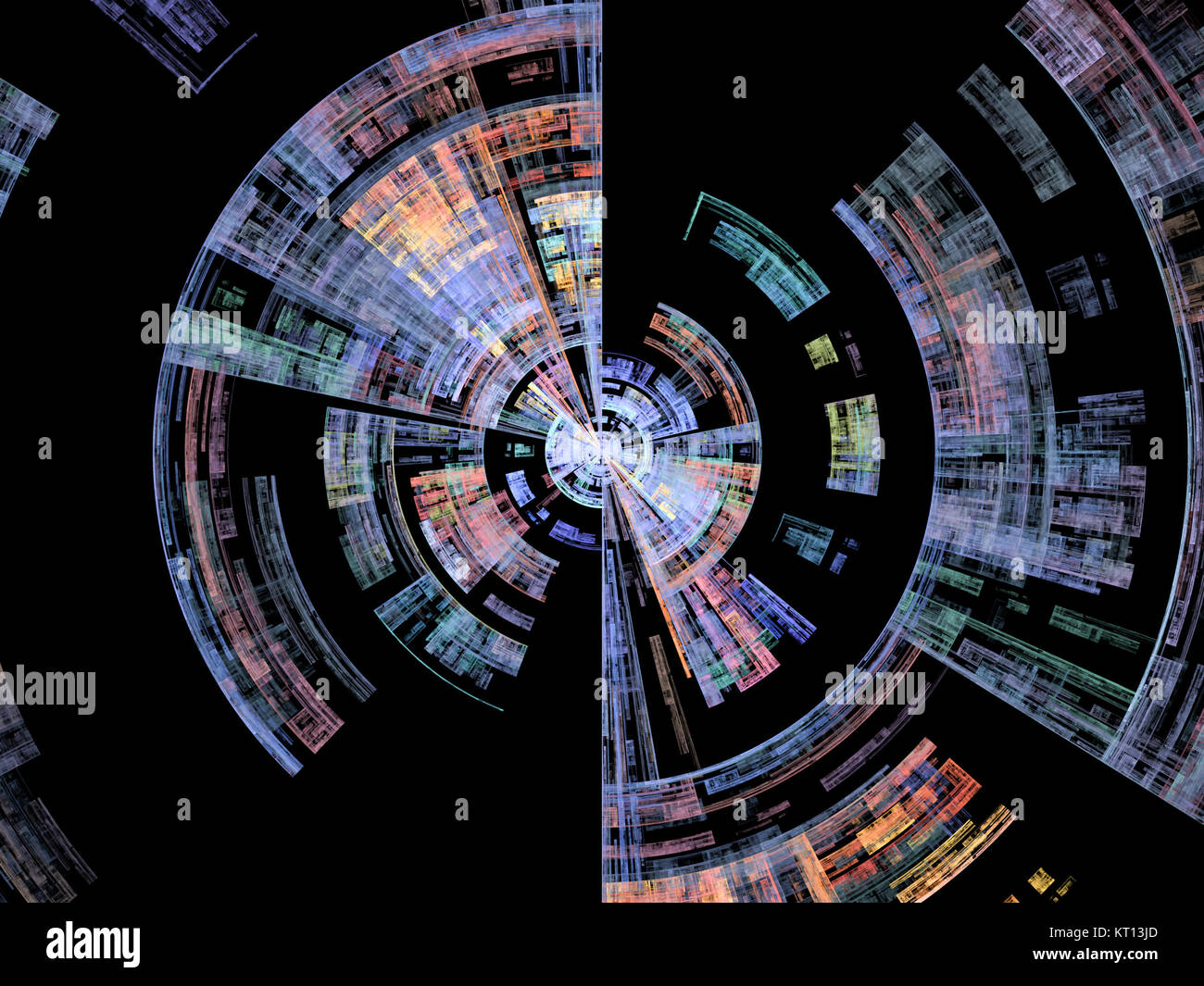 Conceptual Burst Rotation - Stock Image