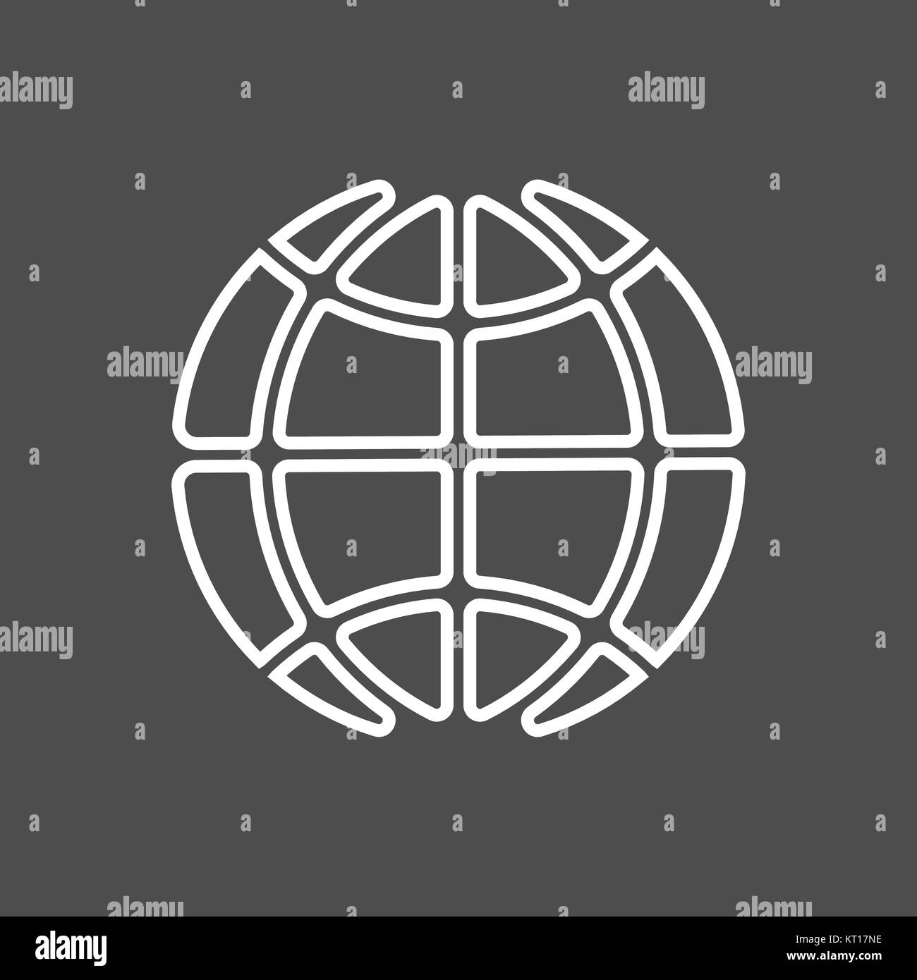 vector icon earth - Stock Image