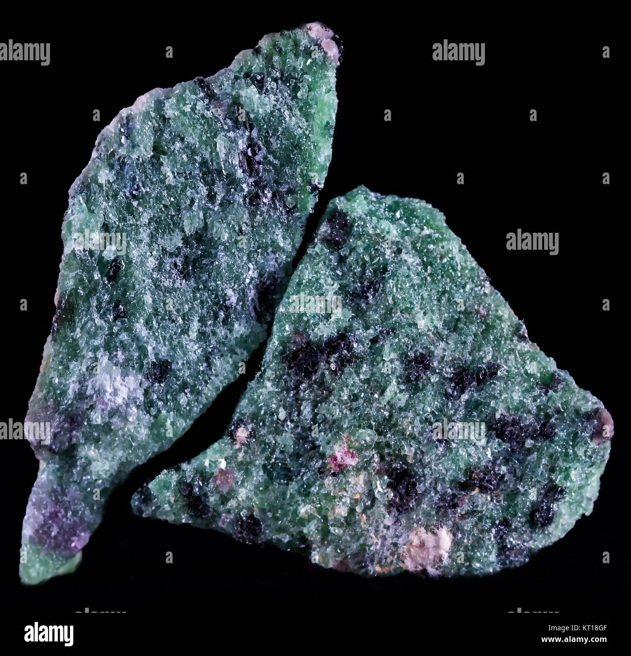 Zoisite, first known as saualpite, after its type locality, is a calcium aluminium hydroxy sorosilicate belonging - Stock Image